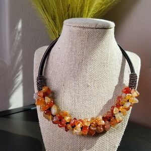 Fashion Cluster Style Agate Chips Necklace